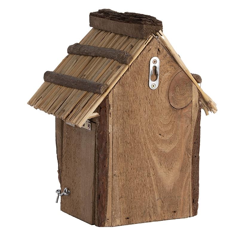 Domek dla ptaków z dachem ze słomy 5